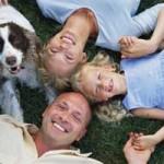 happy dog, happy family